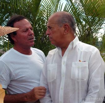 Julio Iglesias y Oscar de la Renta