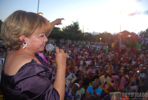 Hanoi Sánchez durane lanzamiento de candidatura 2016-2020