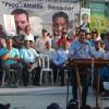 Eduardo Ramírez (Papo) habla a los Prensetes al acto del Lanzamiento de su precandidatura.