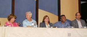 El empresario Rudy Ganna, Presidente de Laurus International y el Senador Félix Bautista.