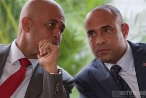 El Presidente de Haití, Michel Martelly y el Ex-Primer Ministro Laurent Lamothe
