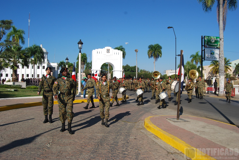 Desfile militar Actos conmemorativos del 202 aniversario del natalicio de Juan Pablo Duarte