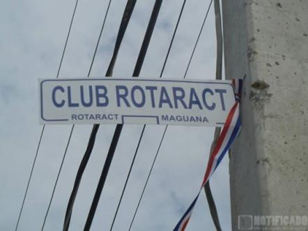 cambia nombre a la Calle 5ta. por Club Rotaract en urbanización Lucero