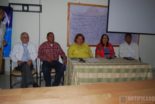"""Mesa de honor en apertura del Diplomado """"Gestión Social Publica del Agua"""""""