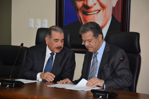 Danilo Medina y Leonel Fernandez