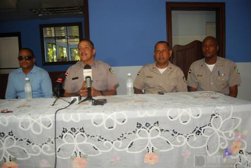 Autoridades en Rueda de prensa sobre el caso
