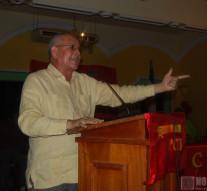 Manuel Salazar, durante el acto de celebración del 35 aniversario Partido Comunista del Trabajo