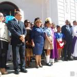 Autoridades presente en el Tedeum en Honor al patricio Francisco del Rosario Sánchez