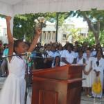 Estudiante ofrece Discurso en celebracion dia de Sánchez